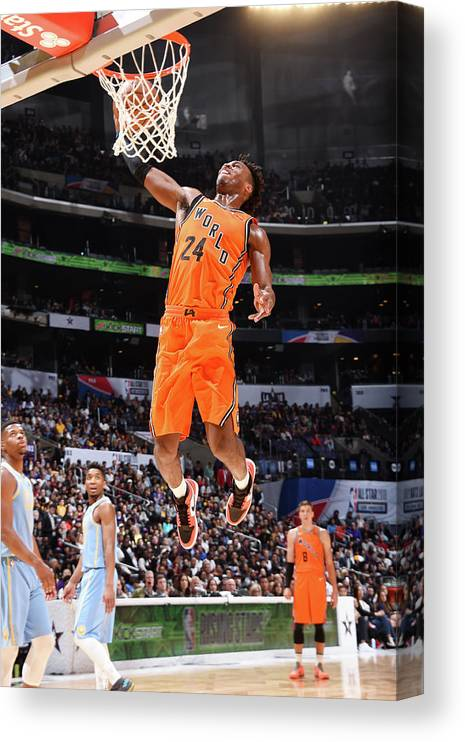 Event Canvas Print featuring the photograph Buddy Hield by Andrew D. Bernstein