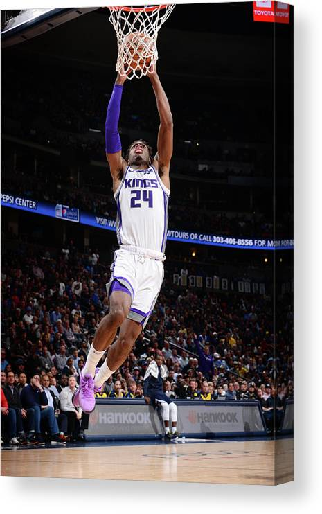 Nba Pro Basketball Canvas Print featuring the photograph Buddy Hield by Bart Young