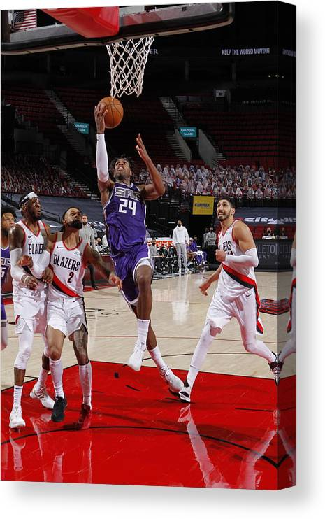 Nba Pro Basketball Canvas Print featuring the photograph Buddy Hield by Cameron Browne