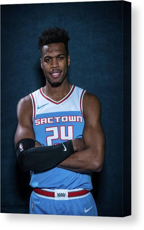 Nba Pro Basketball Canvas Print featuring the photograph Buddy Hield by Michael J. Lebrecht Ii