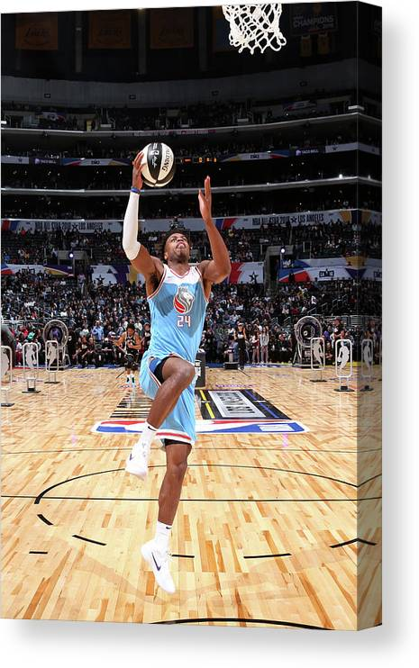 Event Canvas Print featuring the photograph Buddy Hield by Nathaniel S. Butler