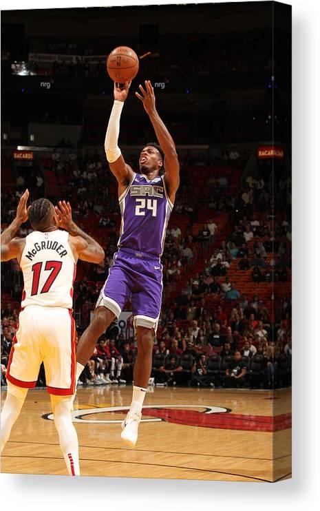 Nba Pro Basketball Canvas Print featuring the photograph Buddy Hield by Oscar Baldizon
