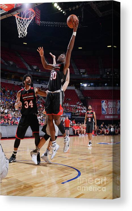 Nba Pro Basketball Canvas Print featuring the photograph Caleb Swanigan by David Dow