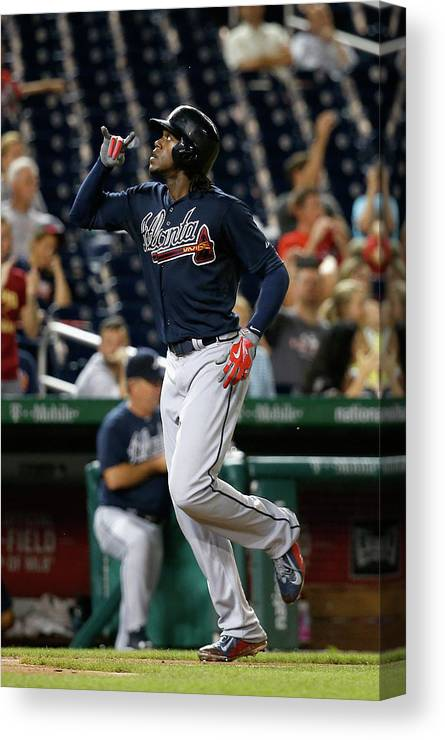 People Canvas Print featuring the photograph Cameron Maybin by Rob Carr