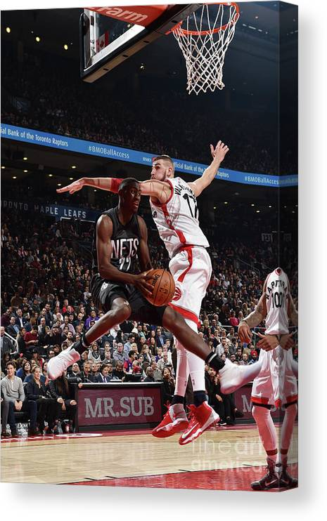 Nba Pro Basketball Canvas Print featuring the photograph Caris Levert by Ron Turenne