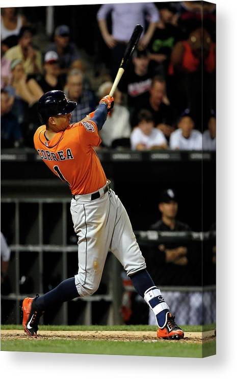 Ninth Inning Canvas Print featuring the photograph Carlos Correa by Jon Durr