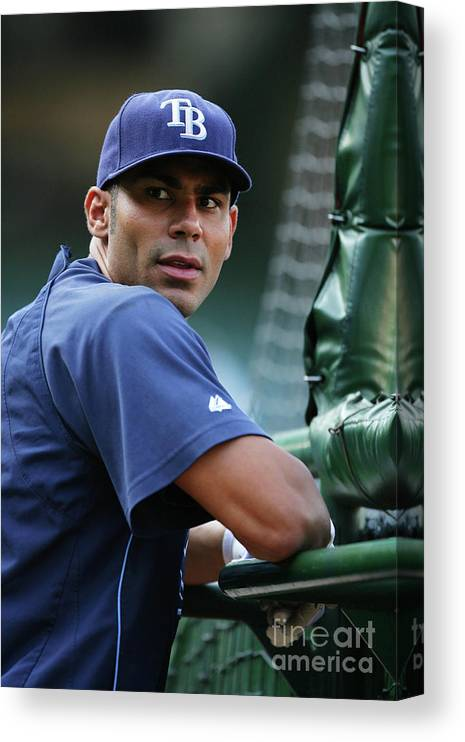 People Canvas Print featuring the photograph Carlos Pena by Icon Sports Wire