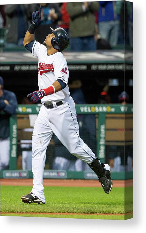 Second Inning Canvas Print featuring the photograph Carlos Santana by Jason Miller