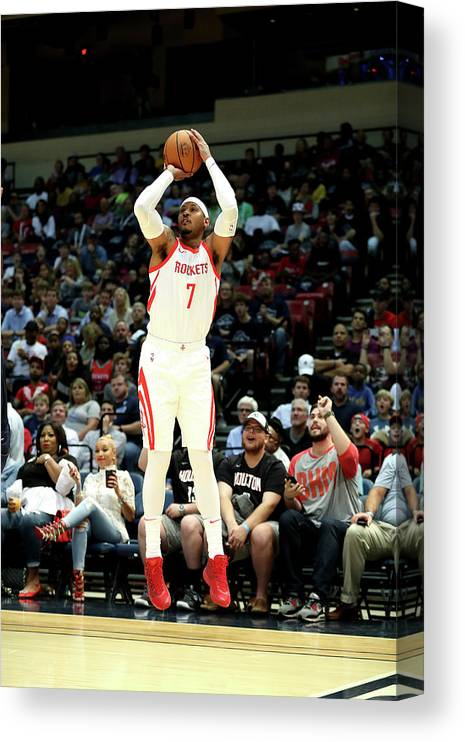 Nba Pro Basketball Canvas Print featuring the photograph Carmelo Anthony by Joe Murphy