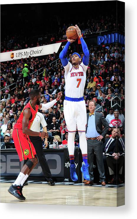 Atlanta Canvas Print featuring the photograph Carmelo Anthony by Scott Cunningham