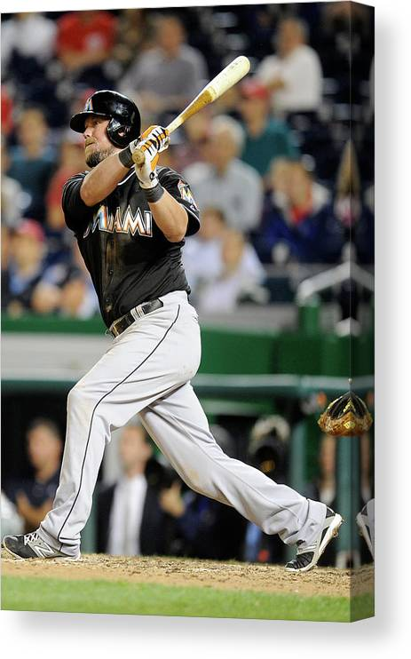 American League Baseball Canvas Print featuring the photograph Casey Mcgehee by Greg Fiume