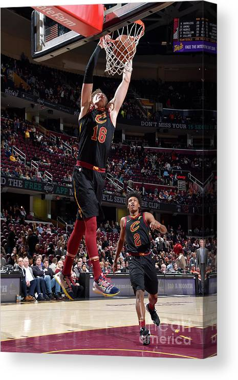 Nba Pro Basketball Canvas Print featuring the photograph Cedi Osman by David Liam Kyle