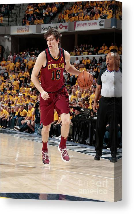 Playoffs Canvas Print featuring the photograph Cedi Osman by Ron Hoskins