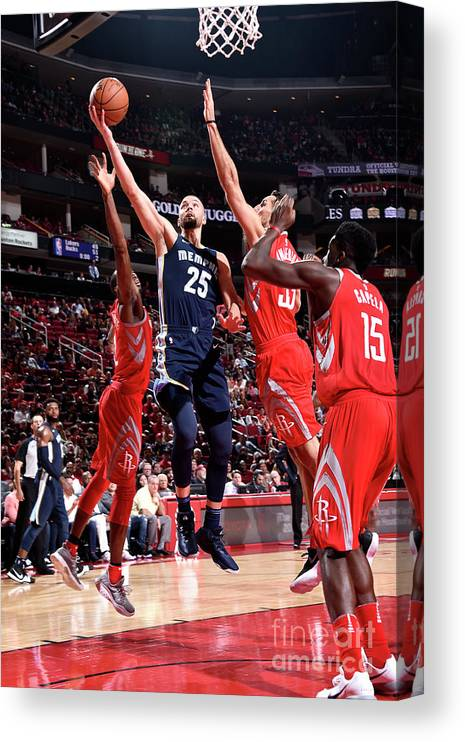Nba Pro Basketball Canvas Print featuring the photograph Chandler Parsons by Bill Baptist