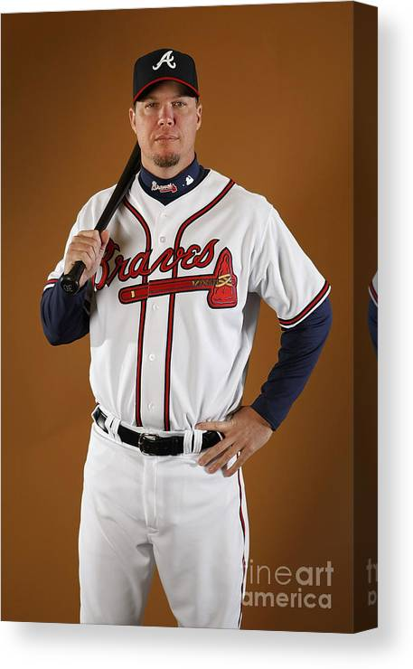 Media Day Canvas Print featuring the photograph Chipper Jones by Gregory Shamus