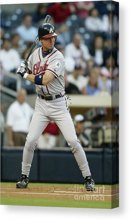 California Canvas Print featuring the photograph Chipper Jones by Streeter Lecka