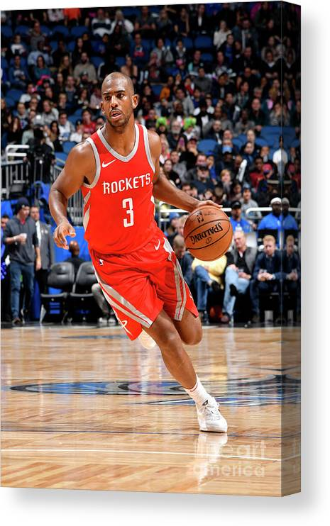 Nba Pro Basketball Canvas Print featuring the photograph Chris Paul by Fernando Medina
