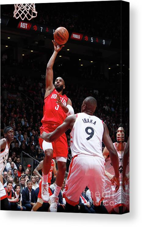 Nba Pro Basketball Canvas Print featuring the photograph Chris Paul by Mark Blinch