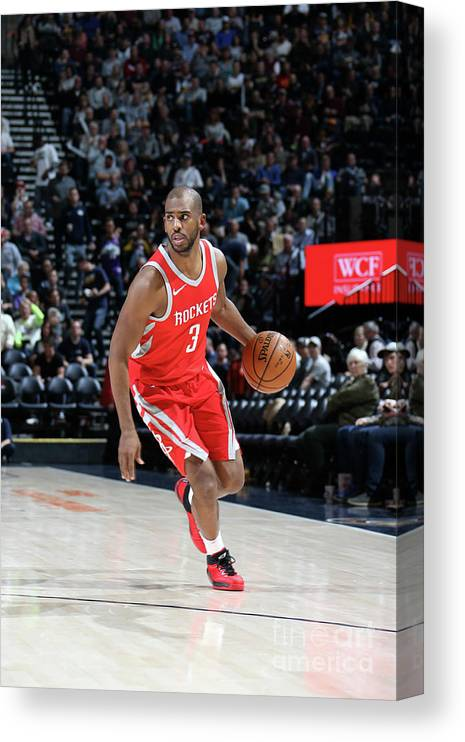 Nba Pro Basketball Canvas Print featuring the photograph Chris Paul by Melissa Majchrzak
