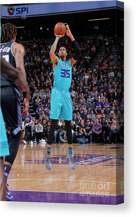 Nba Pro Basketball Canvas Print featuring the photograph Christian Wood by Rocky Widner