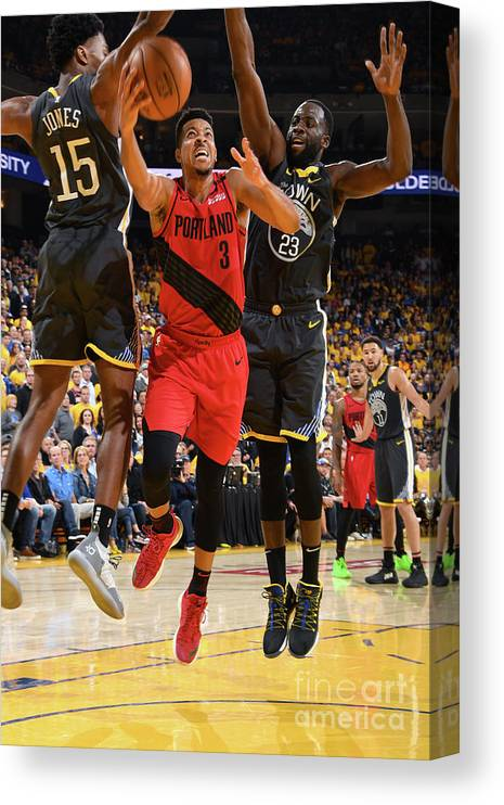 Game Two Canvas Print featuring the photograph C.j. Mccollum by Andrew D. Bernstein