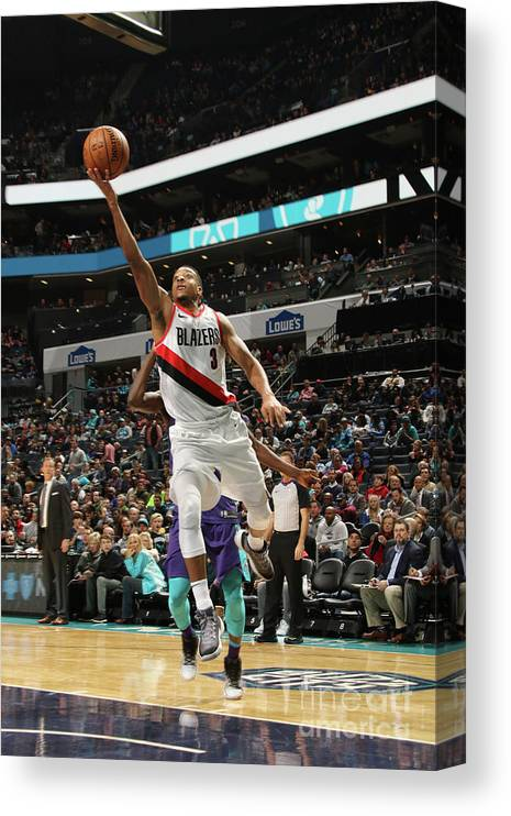 Nba Pro Basketball Canvas Print featuring the photograph C.j. Mccollum by Brock Williams-smith