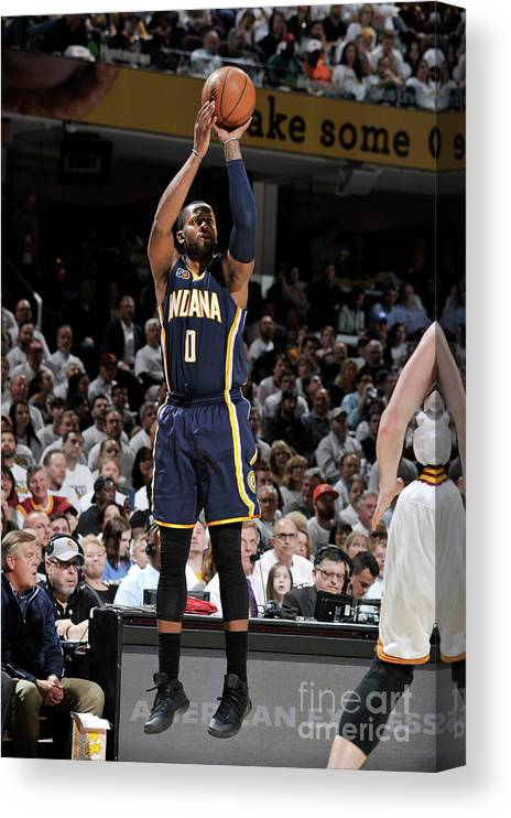 Playoffs Canvas Print featuring the photograph C.j. Miles by David Liam Kyle