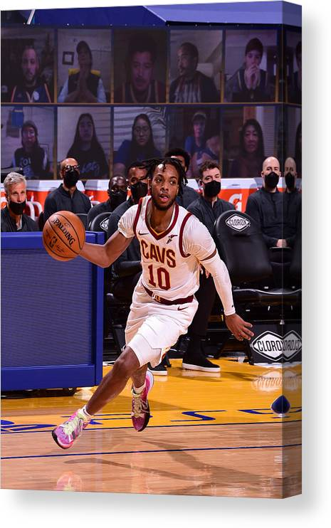 San Francisco Canvas Print featuring the photograph Cleveland Cavaliers v Golden State Warriors by Noah Graham