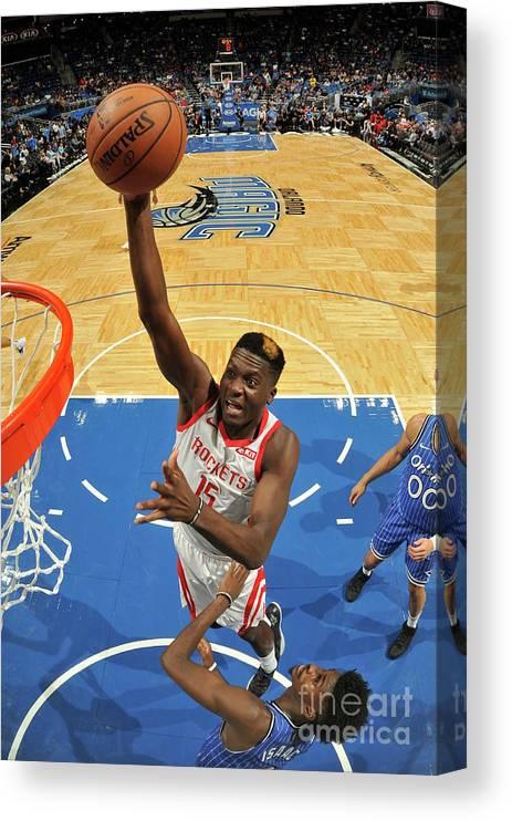 Nba Pro Basketball Canvas Print featuring the photograph Clint Capela by Fernando Medina