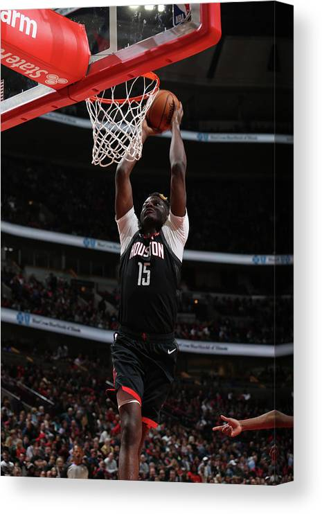 Nba Pro Basketball Canvas Print featuring the photograph Clint Capela by Gary Dineen