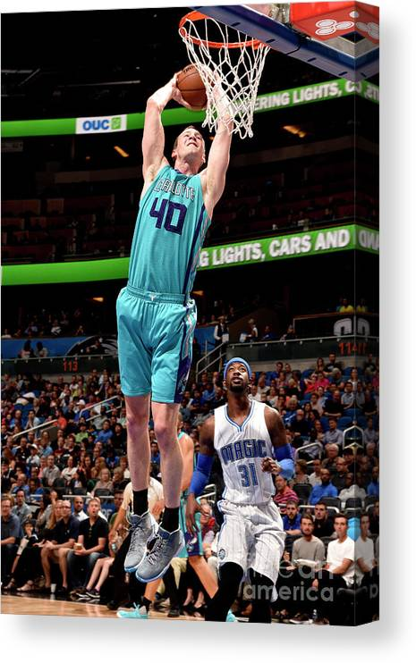 Nba Pro Basketball Canvas Print featuring the photograph Cody Zeller by Gary Bassing