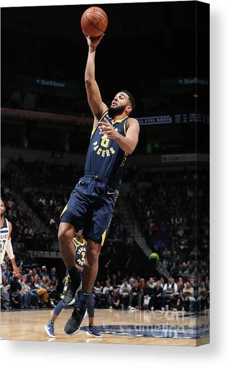 Nba Pro Basketball Canvas Print featuring the photograph Cory Joseph by David Sherman