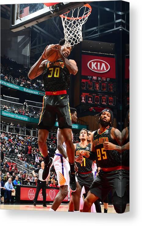 Atlanta Canvas Print featuring the photograph Damian Jones by Scott Cunningham