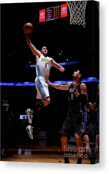 Danilo Gallinari Canvas Print featuring the photograph Danilo Gallinari by Bart Young