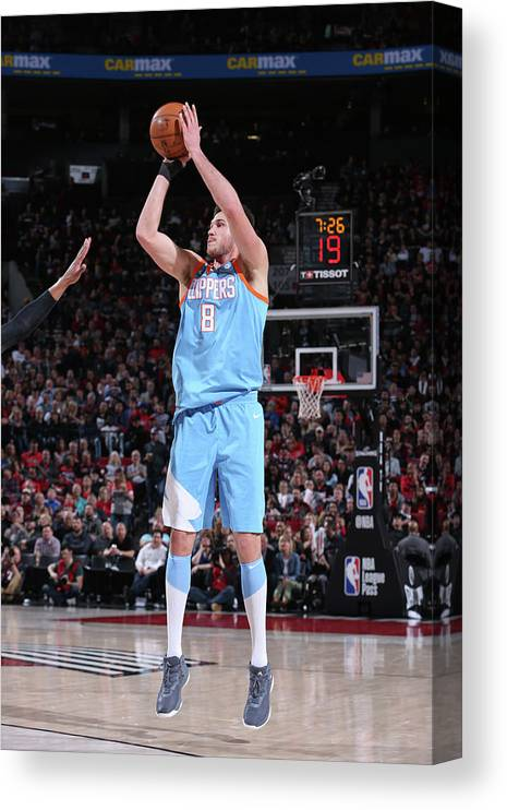 Danilo Gallinari Canvas Print featuring the photograph Danilo Gallinari by Sam Forencich