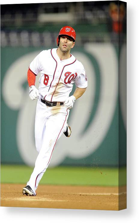 American League Baseball Canvas Print featuring the photograph Danny Espinosa by Greg Fiume