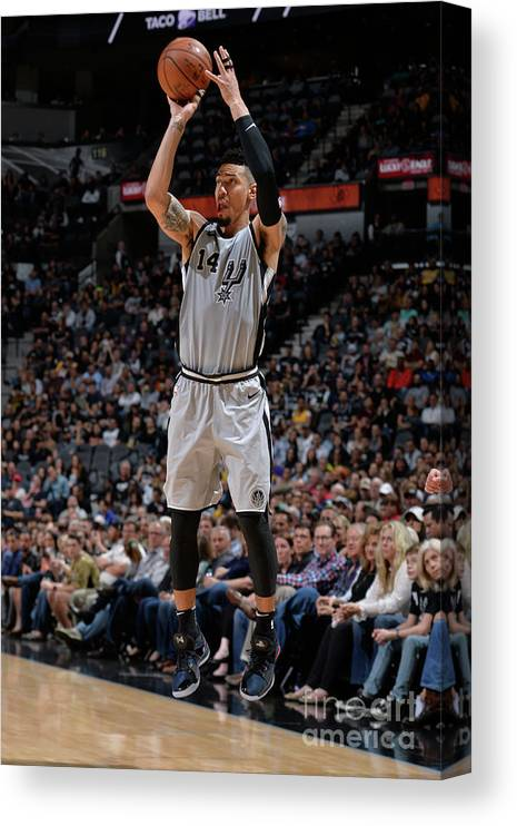 Nba Pro Basketball Canvas Print featuring the photograph Danny Green by Mark Sobhani