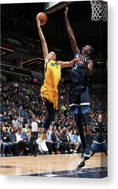 Nba Pro Basketball Canvas Print featuring the photograph Dante Exum by Jordan Johnson