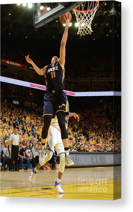 Playoffs Canvas Print featuring the photograph Dante Exum by Noah Graham