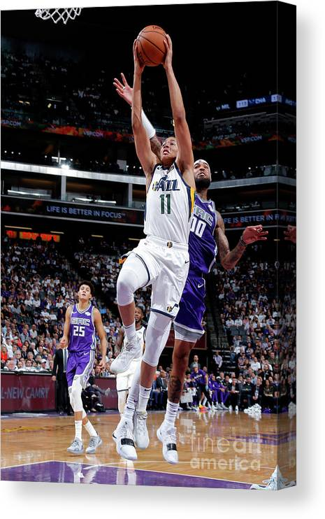 Nba Pro Basketball Canvas Print featuring the photograph Dante Exum by Rocky Widner