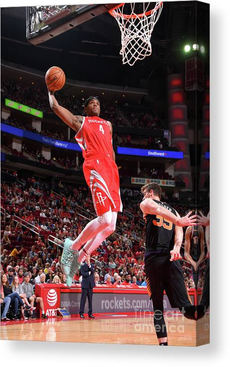 Nba Pro Basketball Canvas Print featuring the photograph Danuel House by Bill Baptist