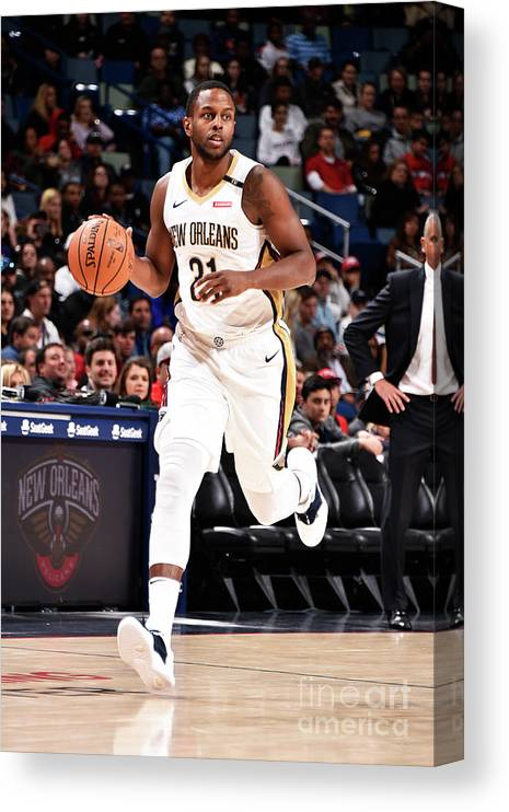 Smoothie King Center Canvas Print featuring the photograph Darius Miller by Bill Baptist