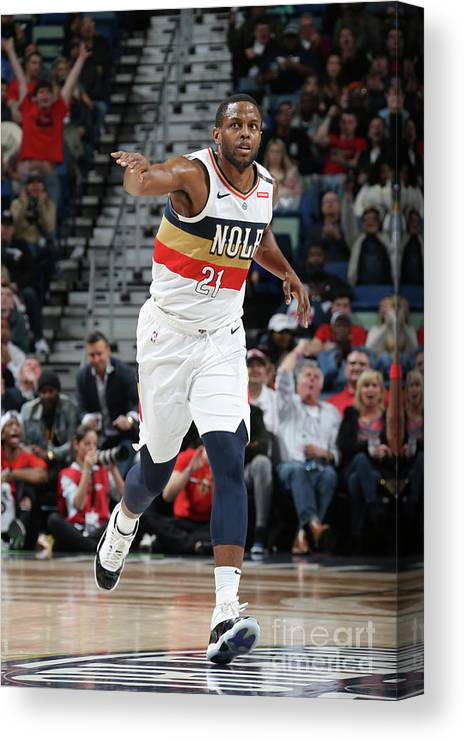 Smoothie King Center Canvas Print featuring the photograph Darius Miller by Layne Murdoch Jr.