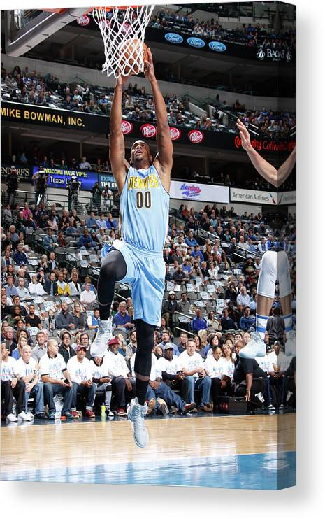 Nba Pro Basketball Canvas Print featuring the photograph Darrell Arthur by Danny Bollinger