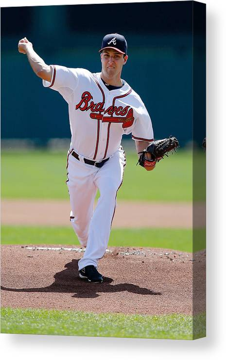 American League Baseball Canvas Print featuring the photograph David Hale by Stacy Revere