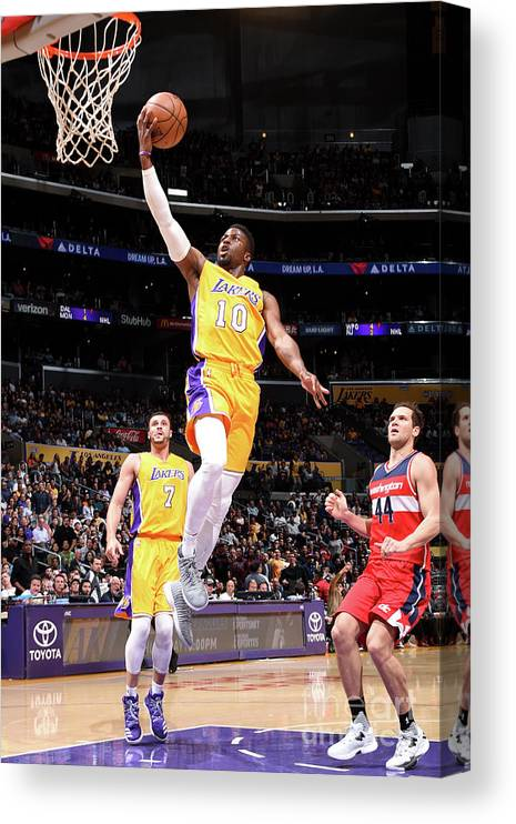 Nba Pro Basketball Canvas Print featuring the photograph David Nwaba by Andrew D. Bernstein