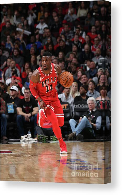 Nba Pro Basketball Canvas Print featuring the photograph David Nwaba by Gary Dineen