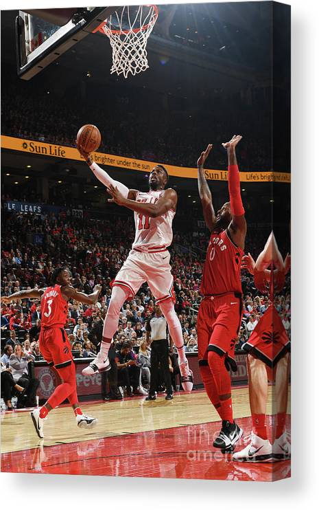 Nba Pro Basketball Canvas Print featuring the photograph David Nwaba by Ron Turenne
