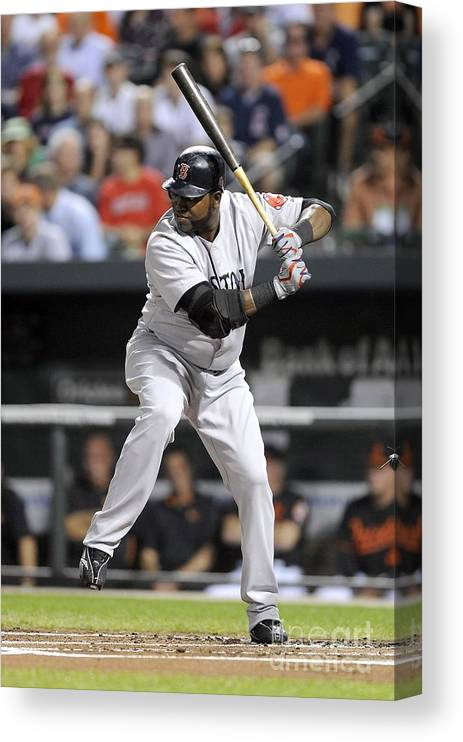 American League Baseball Canvas Print featuring the photograph David Ortiz by G Fiume