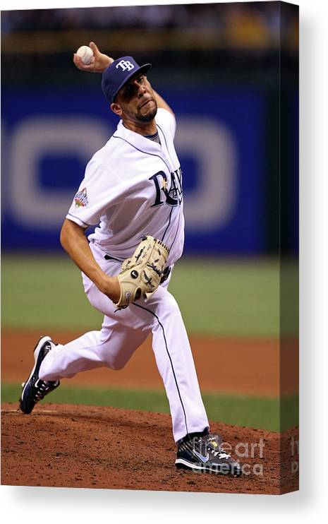 David Price Canvas Print featuring the photograph David Price by Jed Jacobsohn